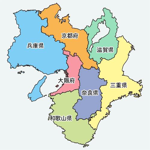 近畿の地図